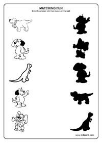 shadow fun worksheets activity sheets for kids funs worksheets - Fun Activity Sheets