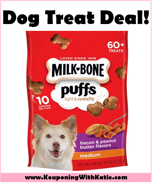 Stock Up On New Milk Bone Puffs Dog Treats For Just 1 44 Peanut Butter Dog Treats Bacon Dog Treats Bacon Dog