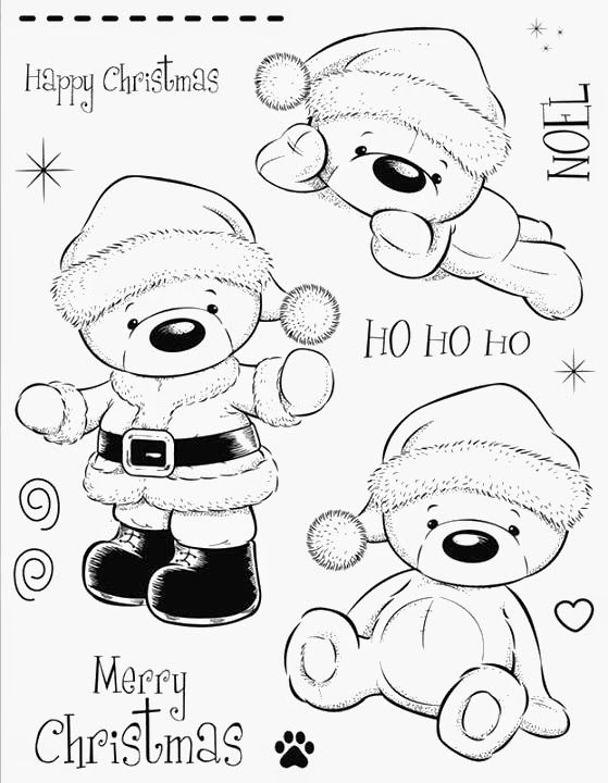 ursinhos natal | Christmas stamps rubber, Digi stamps, Digital stamps