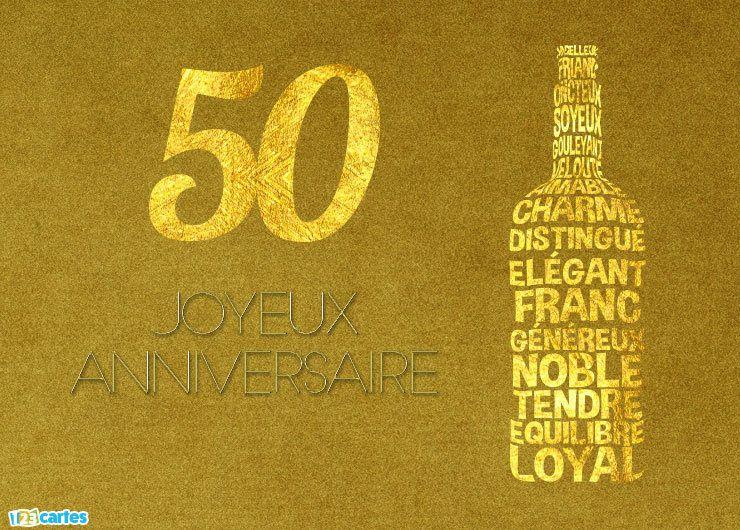 Carte Joyeux Anniversaire 50 Ans Comme Un Bon Vin Carte Anniversaire 50 Ans Carte Joyeux Anniversaire Carte Anniversaire