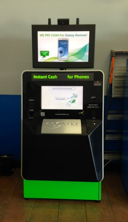 This ecoATM kiosk can be found in Bakersfield, California ...