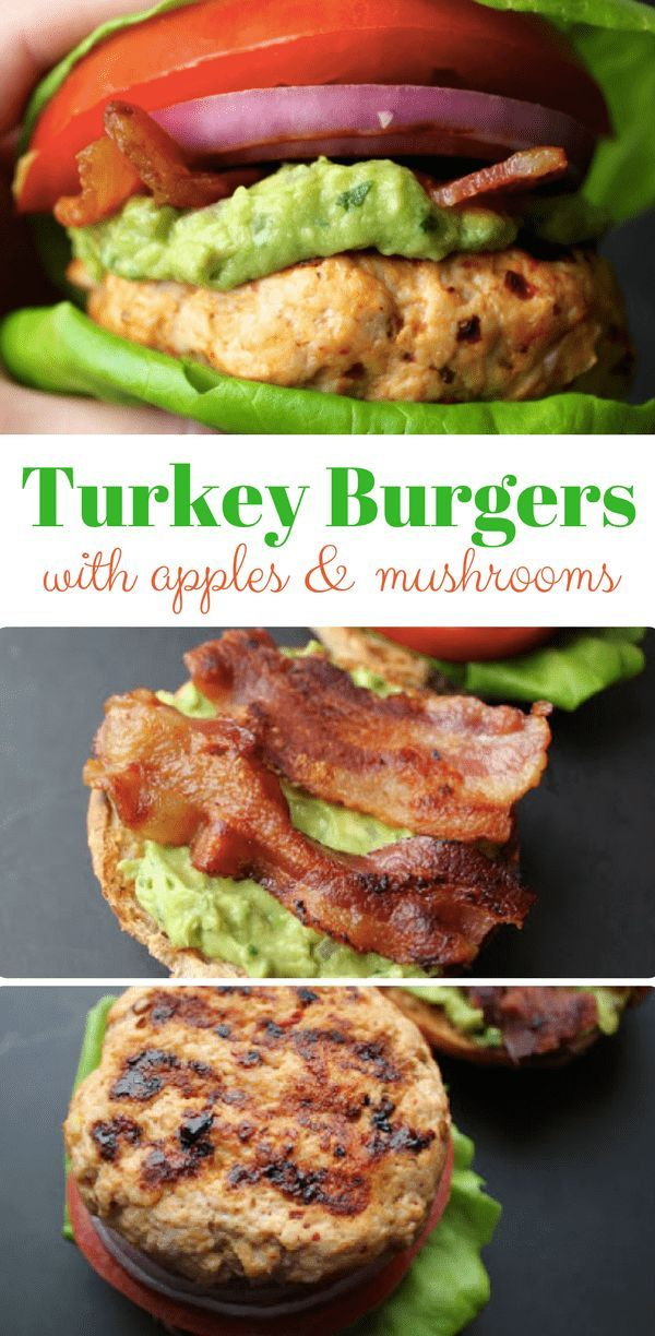Home Made Turkey Burgers With Apples and Mushrooms | Comeback Momma