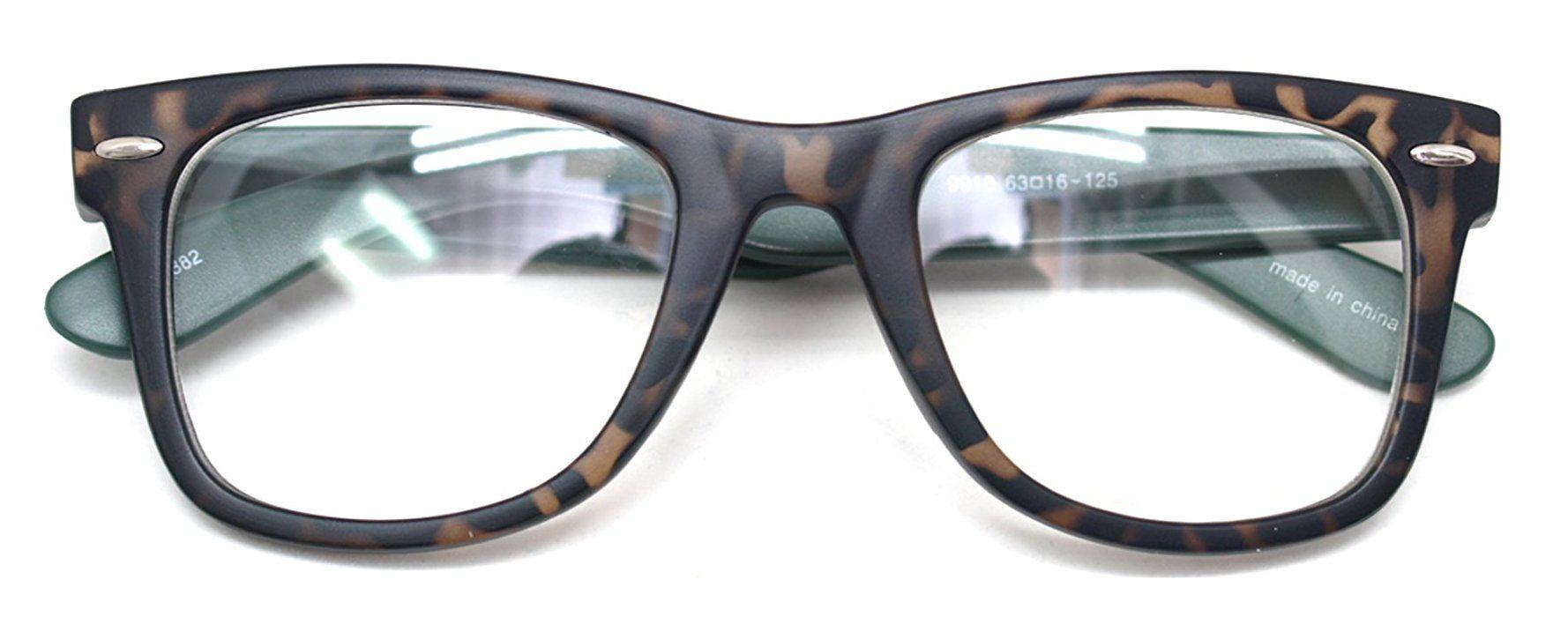 ef72f429d3321 Amazon.com: Classic Horn Rim Nerd Square Eyeglasses Spectacles Geek ...