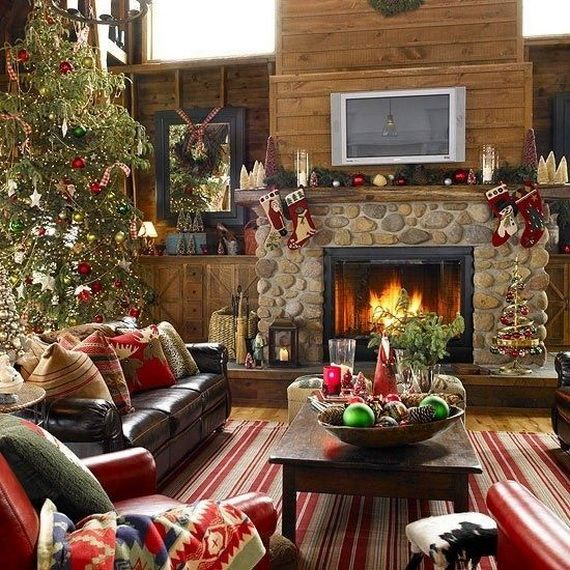 Elegant Christmas Living Room Decor Ideas With Electric Fireplace And Tv 60 Country Livingroom