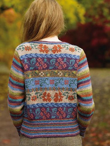 Maple pattern by Marie Wallin | Rowan, Fair isle pattern and Fair ...