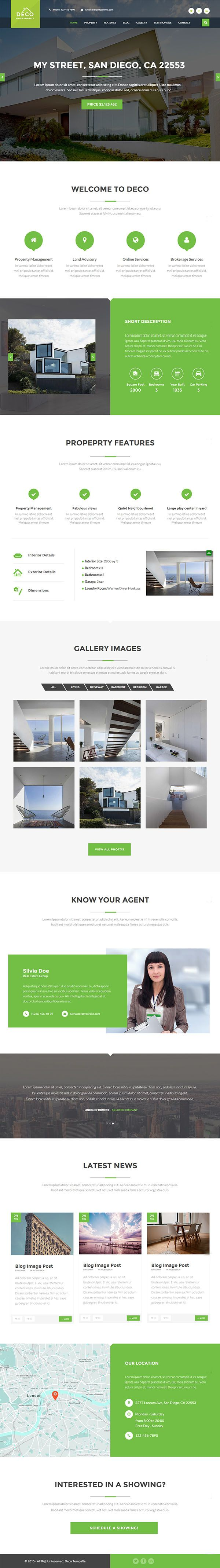 Deco House Single Property Real Estate Html Template Web Design Ideas Website Corporate Projects