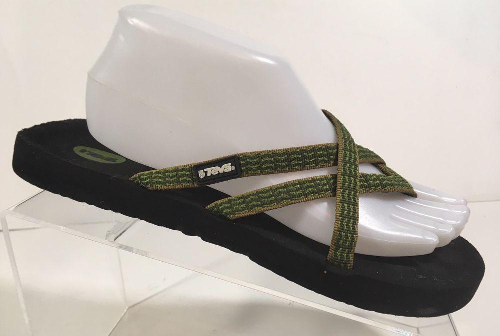 637cf13ad Teva Olowahu 9 Women s Thong Flip Flops Sandals Green  Teva  FlipFlops   Beach