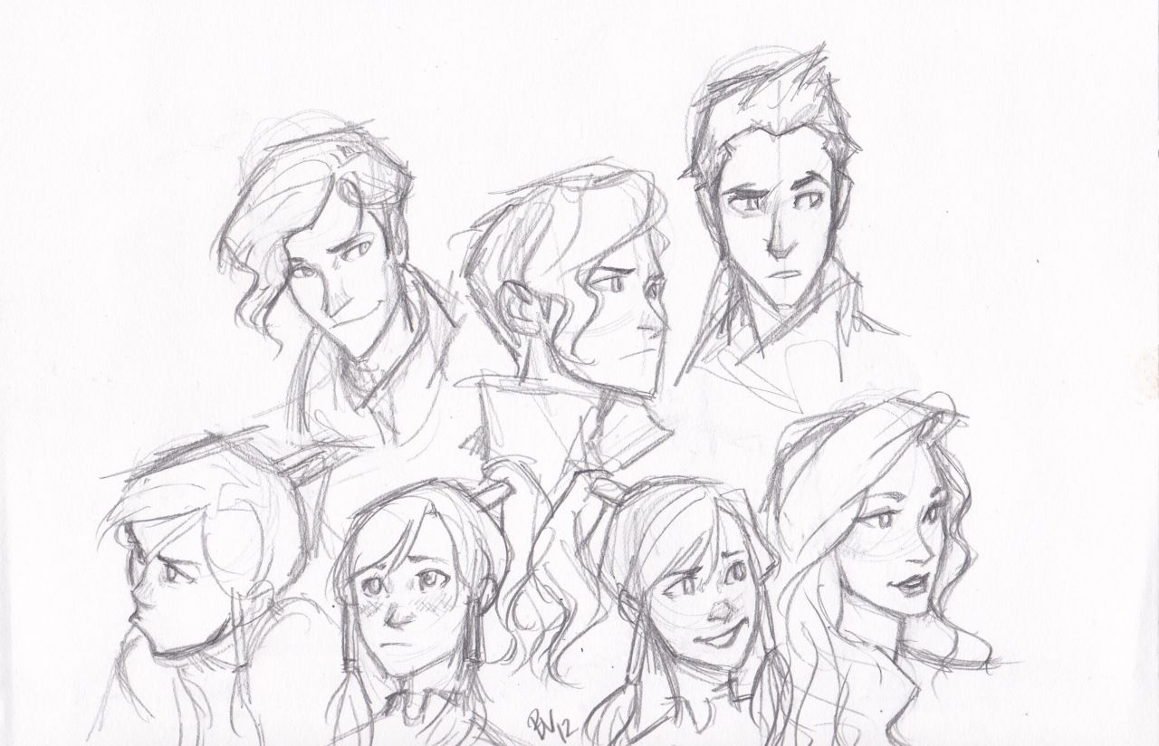 Expressions of legend of korra by burdge character sketches character design avatar cartoon