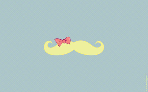 Mustache + Bow = I WANT