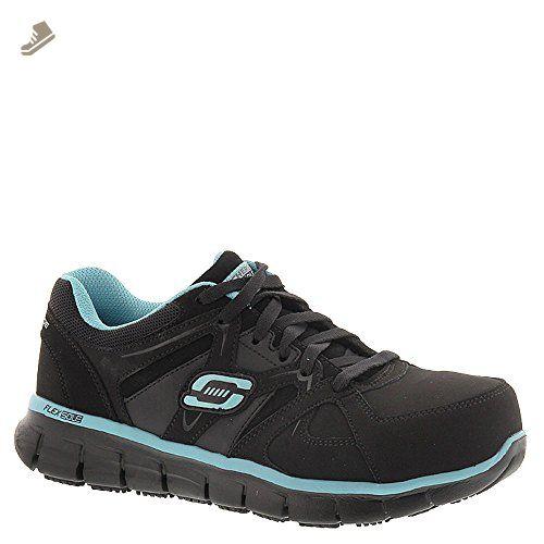 Skechers For Work Women S Synergy Sandlot Work Boot Black Blue