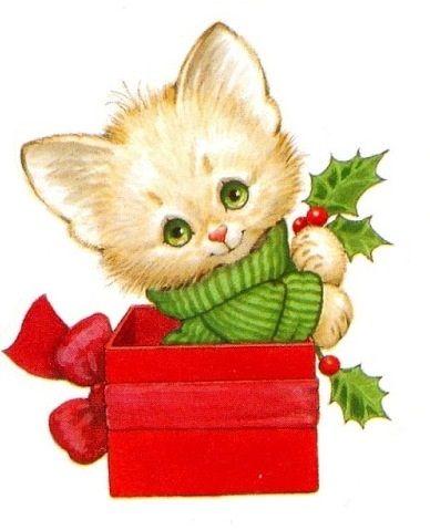 Cat christmas. Printable ruth morehead screensavers