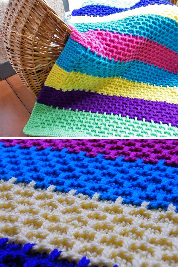 Knitting Pattern For Easy Synchiropus Baby Blanket Striped Blanket