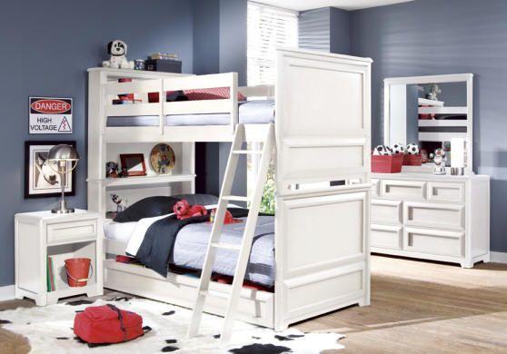 Hinckley Bookcase Headboard Bunk Beds