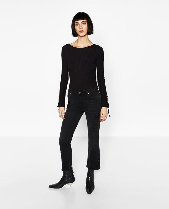 Jeans Bordado Modestil Zara Bestickte Jeans