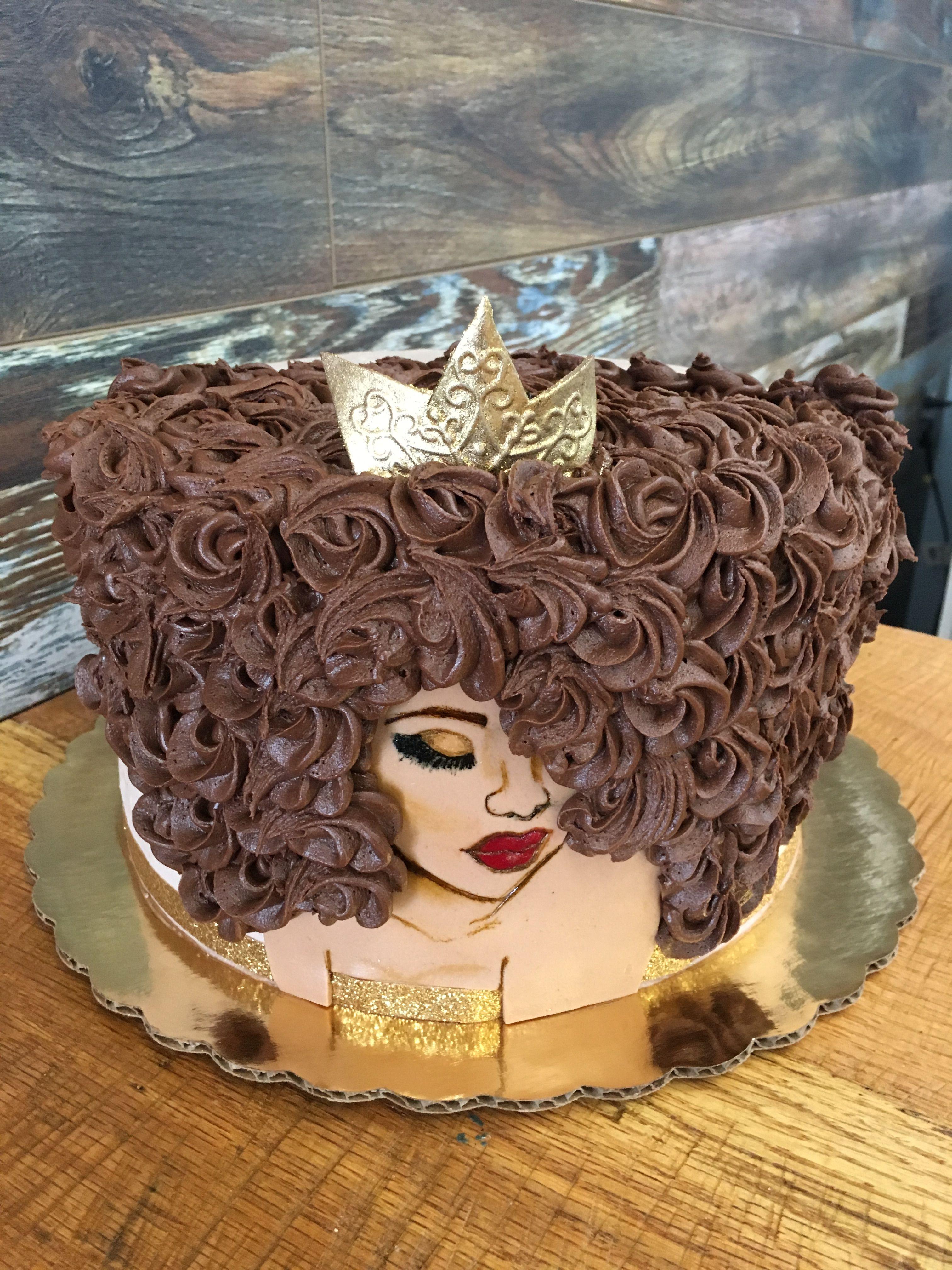 Afro Black Queen Cakes