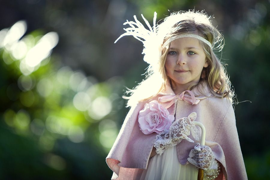 Winter Weddings Flowergirls- Tea Princess Pink Cape