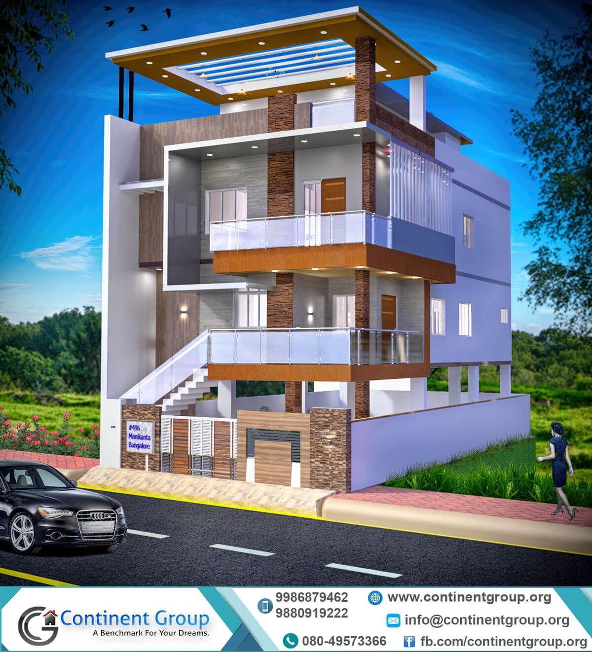 3d building elevation design modern 3d front elevation
