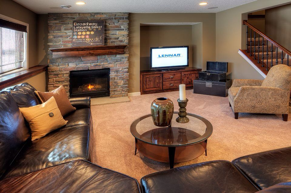 Beautiful Finished Basement My Hide Out Sanctuary Diva Cave New Homes Basement Makeover Home
