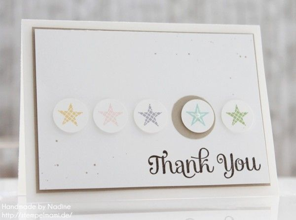 stampin up dankeskarte danke karte minicard thank you card 033 cards stars karten danke. Black Bedroom Furniture Sets. Home Design Ideas