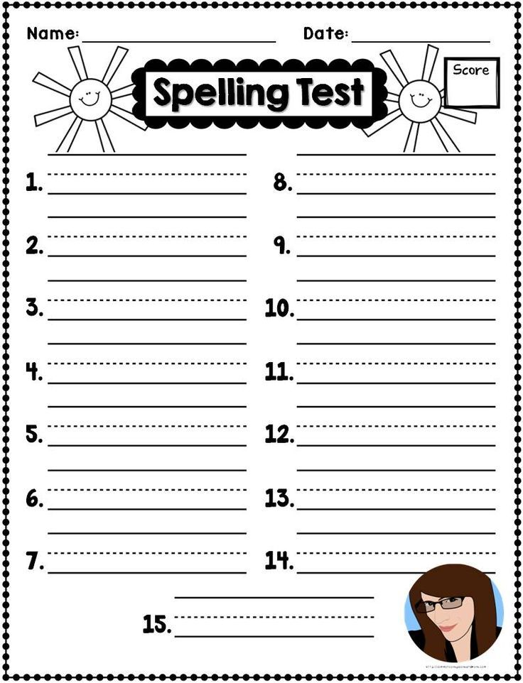 Freebie Spring Spelling Test Templates  SecondgradesquadCom