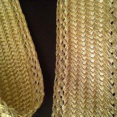 Sfifa galon doré en fil or dorée tissé