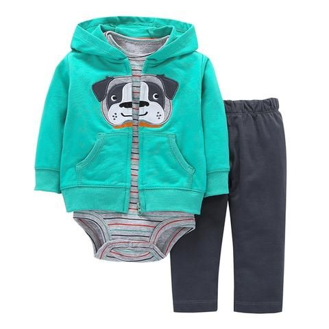 ca338450b 2018 New red boy clothes 100% Cotton Coat+pants+baby romper Autumn ...