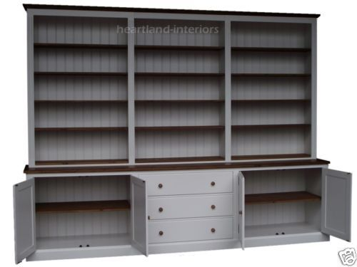 Painted Solid Wood 7ft 11 X 10ft Multi Display Shelving Dresser Bookshelf Unit Ebay White Painted Dressers Display Shelves Dresser Bookshelf