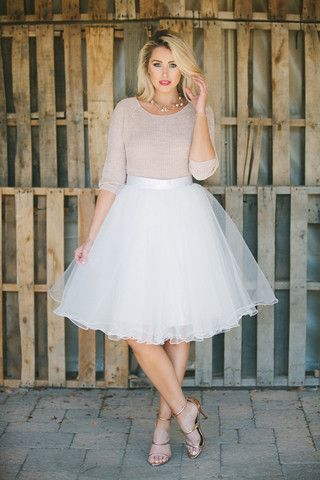 b9cecf47bfb Allure Tulle Skirt - White