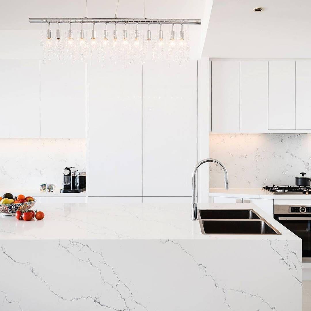 SO FRESH • who doesn\'t love a sleek white on white kitchen?! The ...