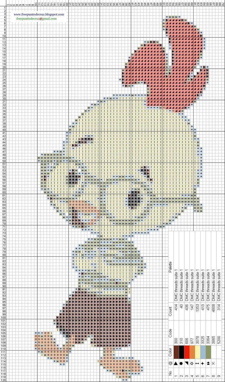 Gráficos en patrones punto de crúz para bordar gratis. | MIS PUNTOS ...
