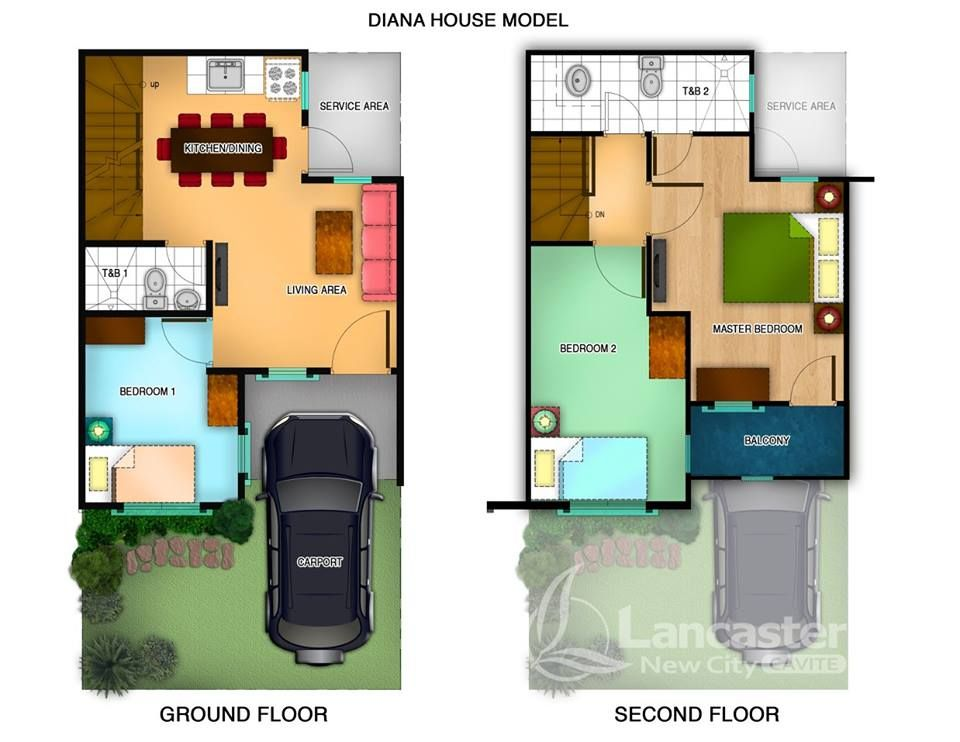 Diana House Model Is A 60 Sqm Townhouse On A 50 Sqm Lot