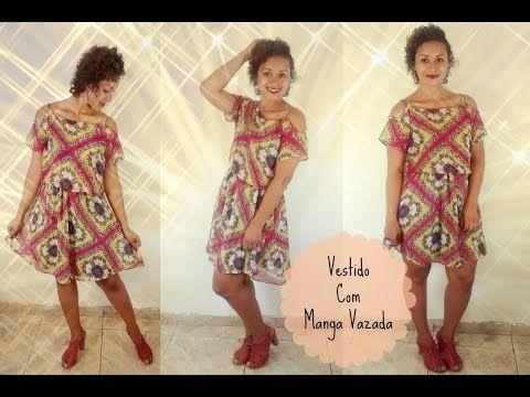 Tutorial de Modelagem - Vestido com Manga Vazada+Recadinho - YouTube