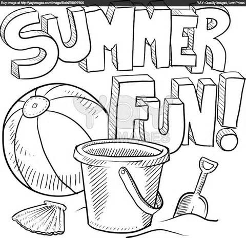 color sheets - Coloring Pages Summer Vacation