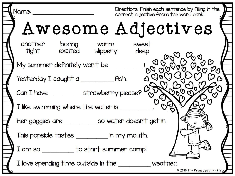 Summer Themed First Amp Second Grade Literacy Packet