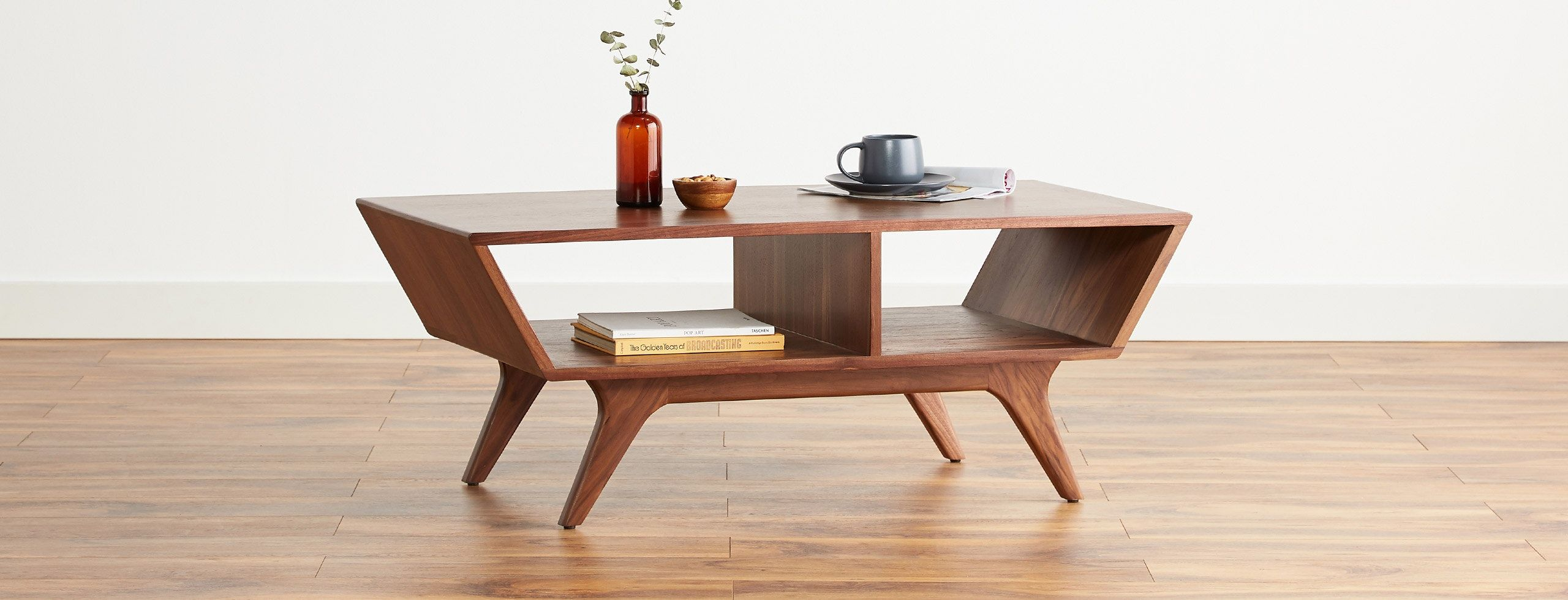 Delightfully Retro And Built To Last This Vintage Inspired Coffee Table Is A Visual Treat For Any Liv Danish Modern Furniture Modern Furniture Retro Furniture [ 980 x 2560 Pixel ]