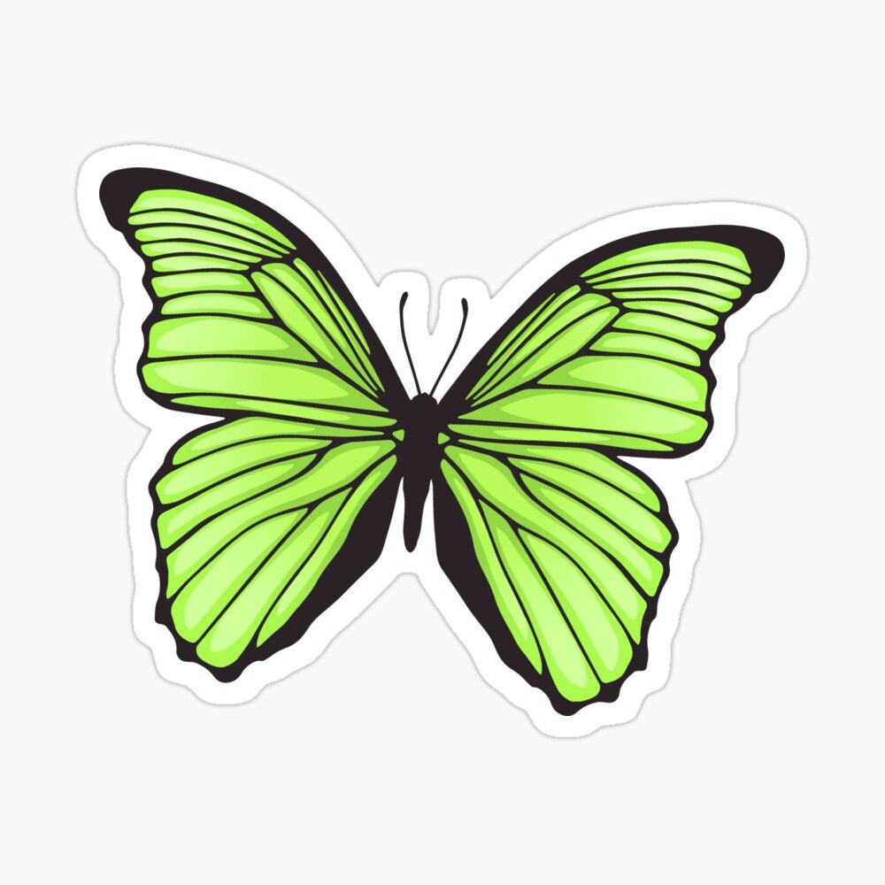 Pin By Tulip On For Edits Green Butterfly Butterfly Wallpaper Iphone Aesthetic Stickers