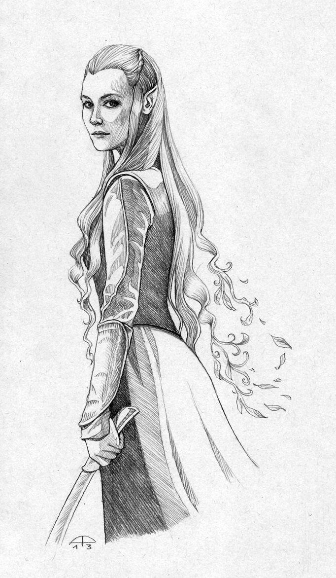 She Elfo Arte En 2019 Dibujos De Pinterest Dibujo De Elfo Y Hobbit