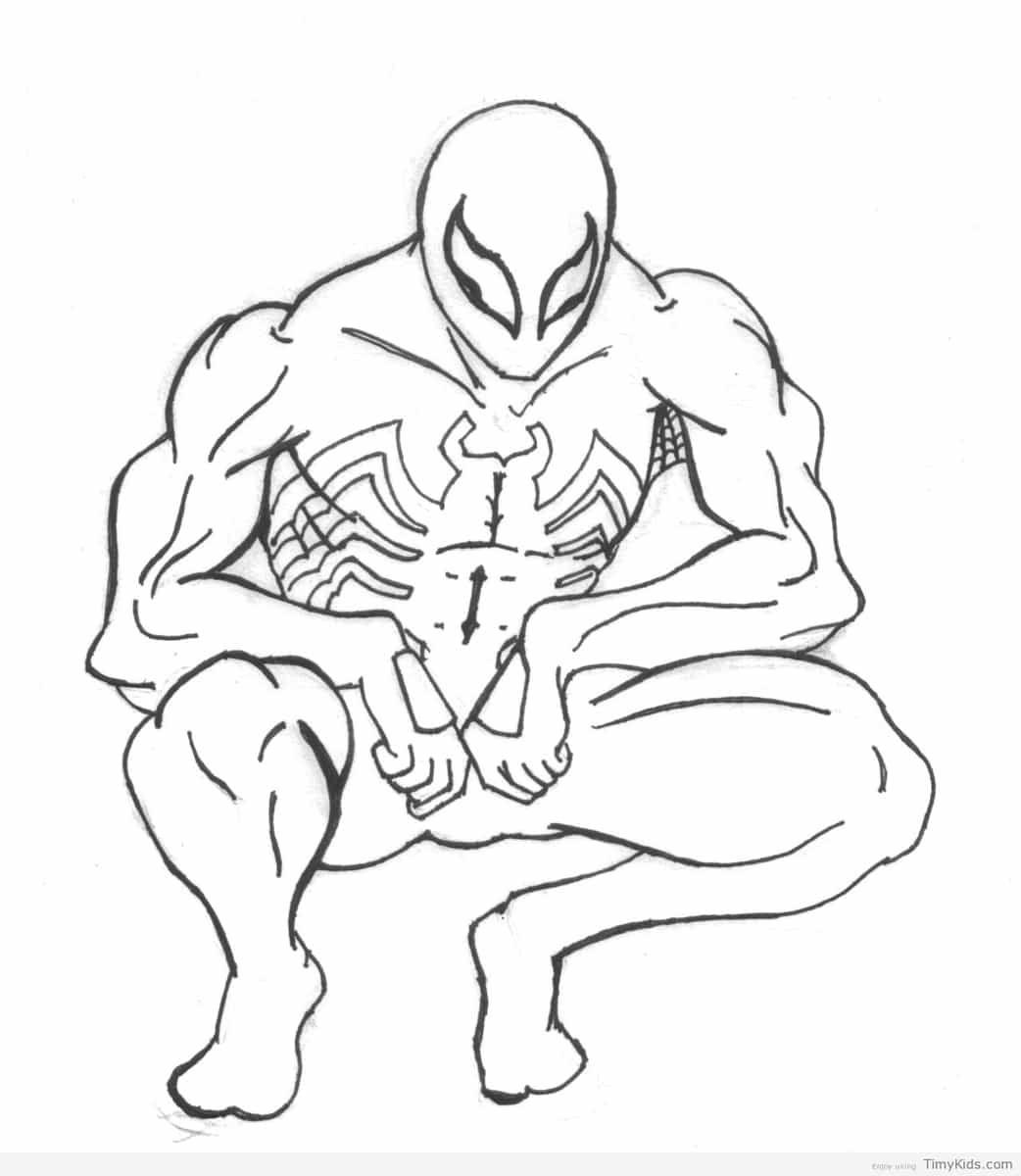 Http timykids com black suit spiderman coloring