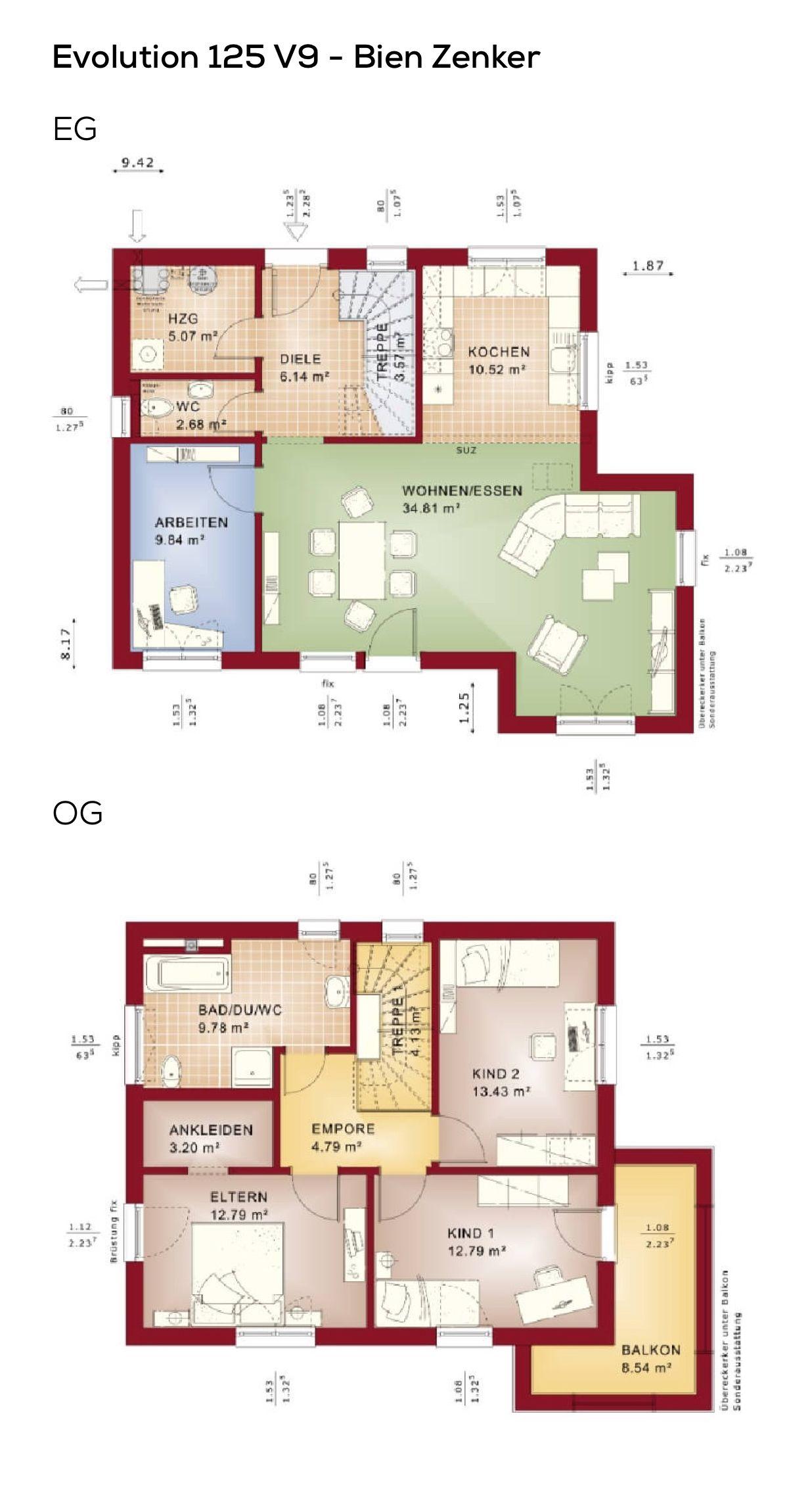 Grundriss Stadtvilla Modern Im Bauhausstil Mit Flachdach Erker