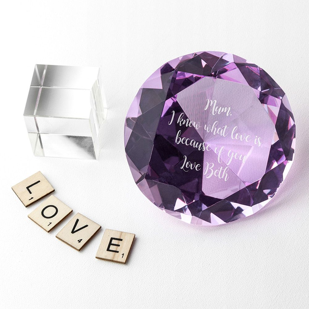 http://www.blueponystyle.com/products/personalised-violet-diamond-paper-weight?utm_campaign=social_autopilot&utm_source=pin&utm_medium=pin   Shop Now!  #etsymntt #EtsySocial #ESLiving #ebay #shopifypicks #EpicOnEtsy #etsyretwt #gift #ATSocialUK #shopifypicks
