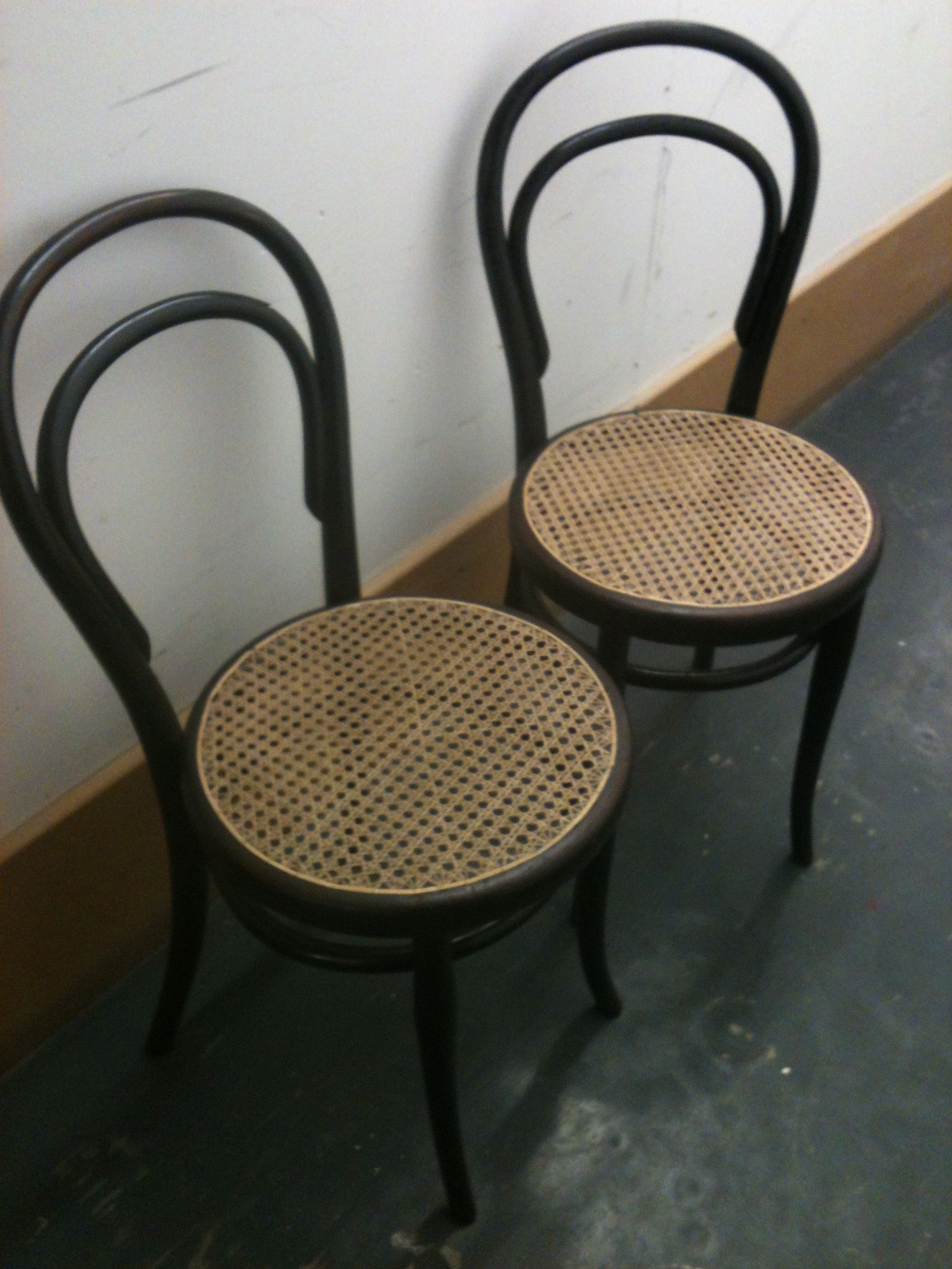 Delightful Classic Thonet Bentwood Cane Cafe Chairs