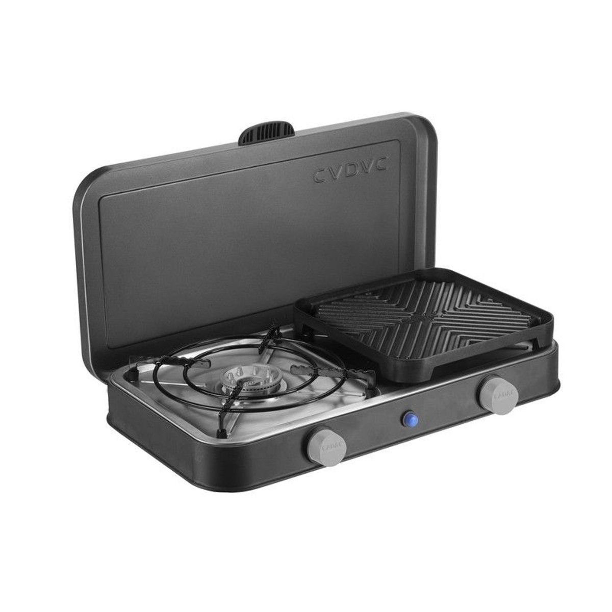 Kampa Alfresco Camping Outdoor Double Gas Hob /& Grill