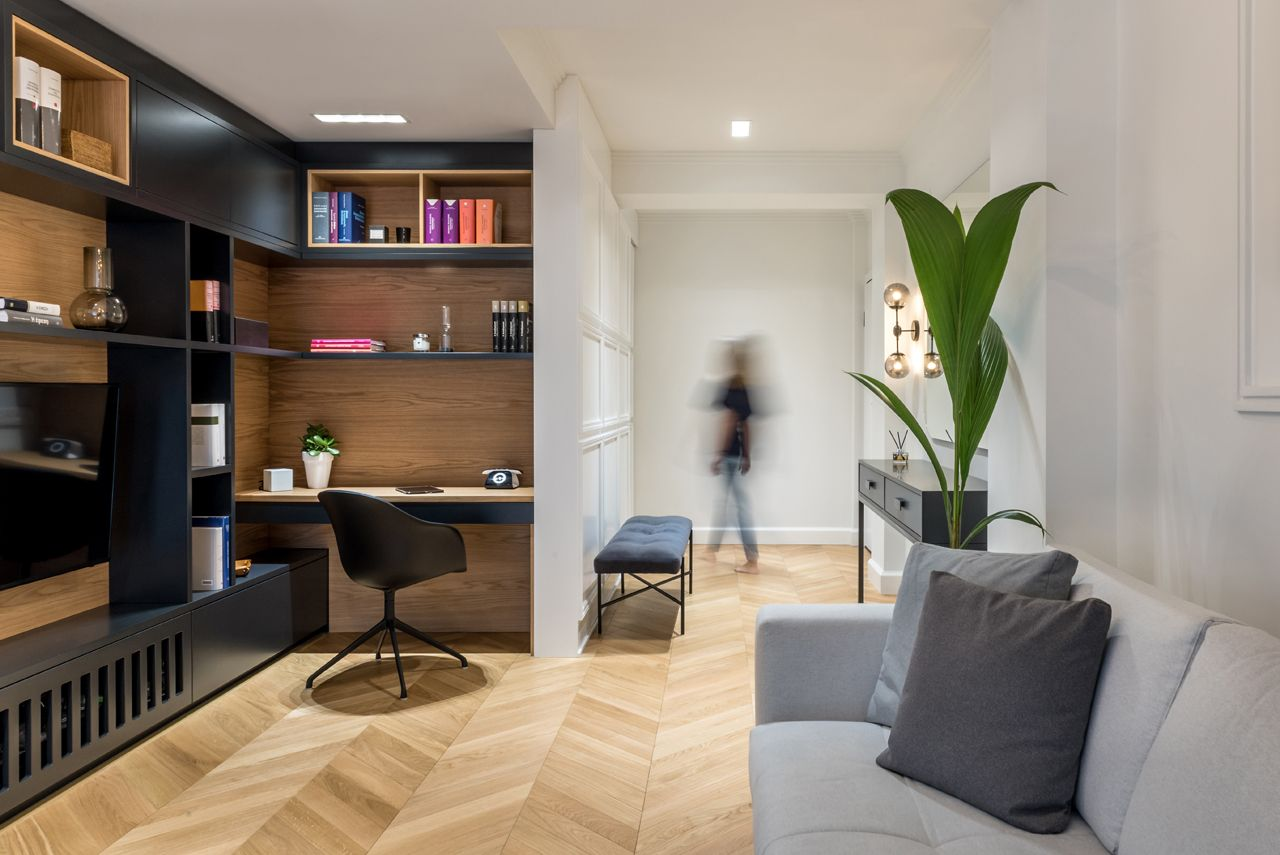 A Dated Greek Apartment Renovated To Make Room For A New Baby Beautiful Small Homes Room Apartment Living