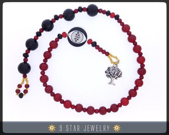 Tree Of Life Bahai Prayer Beads Wbahai Ring Stone Symbol 5 X