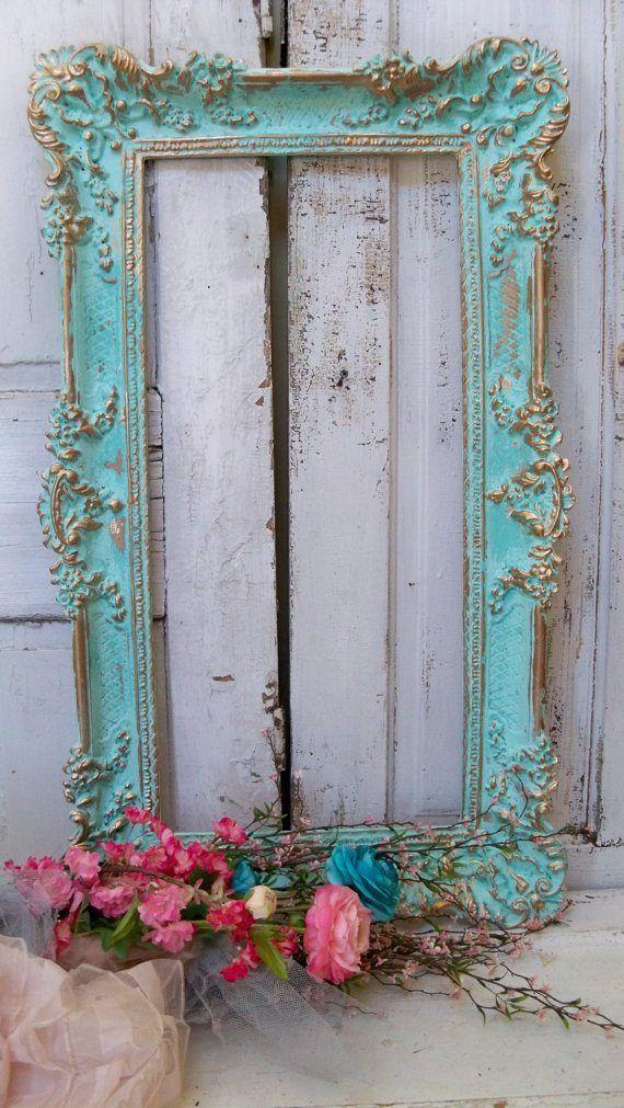 espejo shabby chic con flores | decoración | Pinterest | Shabby ...
