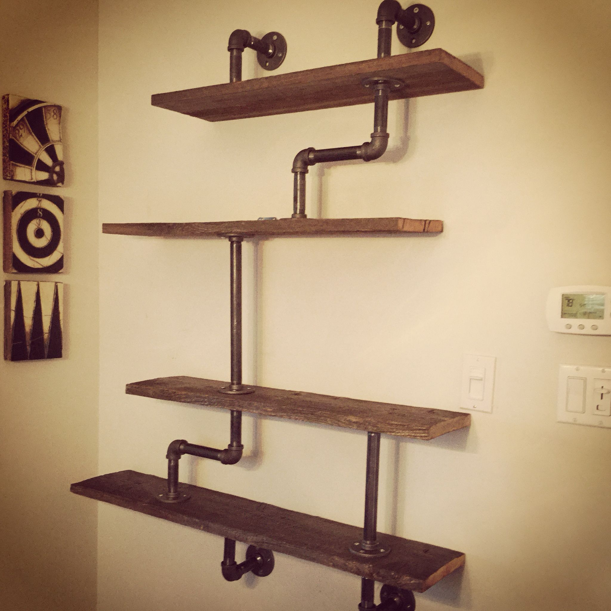 Wohnzimmer Regal Industrial Barnyard And Gas Pipe Shelf Barn Doors Pinterest