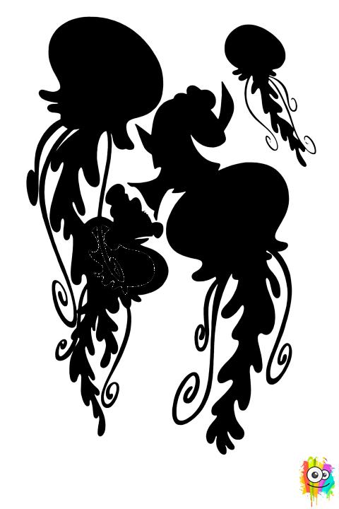Dory entre las Medusas | Dibujos para Colorear | Pinterest