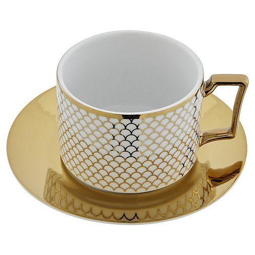 Tesco Direct Fox Ivy Soho Coffee Cup Saucer White Coffee Cups Tableware Buy Coffee