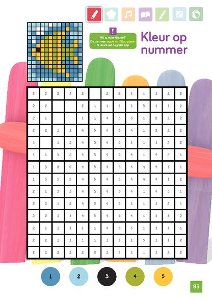 Kleurplaten Met Nummer.Kleur Op Nummer Voor Een Kleurrijke Vis Zappelin Kleurplaten