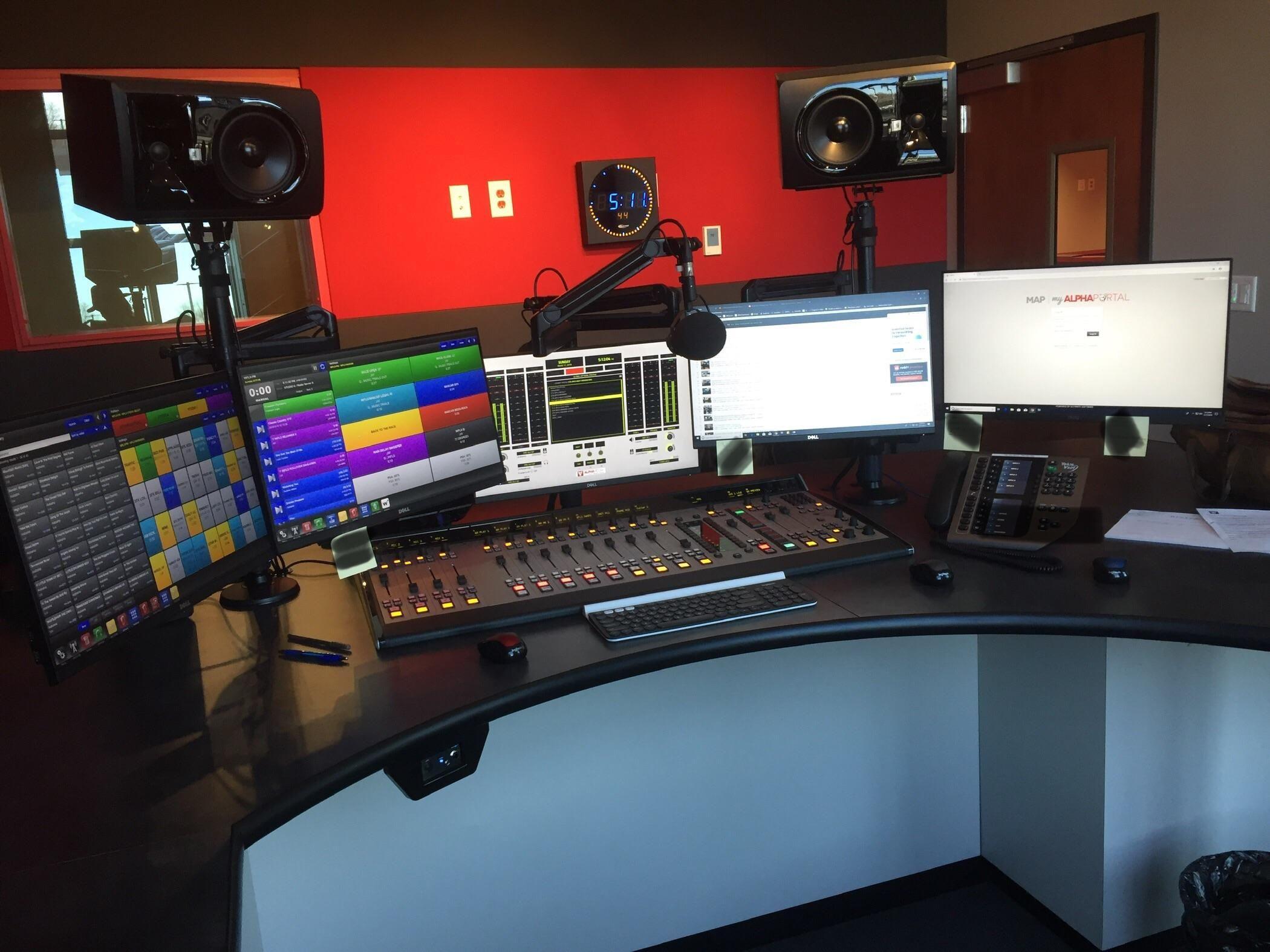 New Studio At The Radio Station News Studio Studio Radio Station